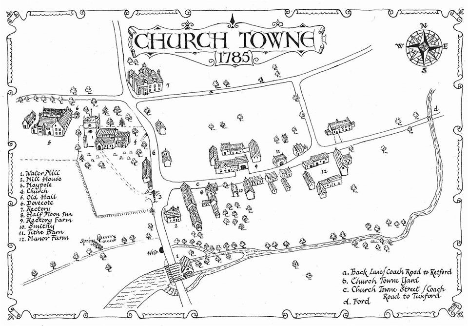 Map of the Old Warsop Town